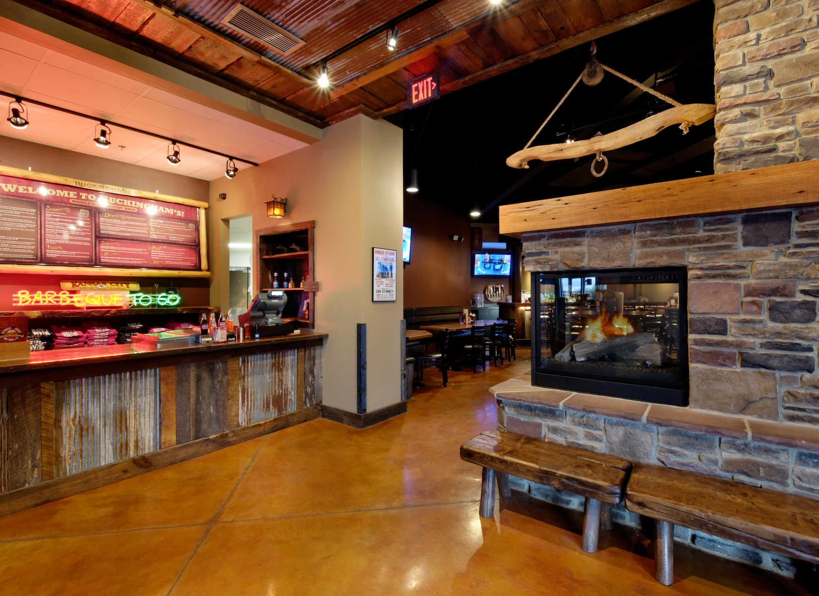 Restaurant Bar Design Plans: Buckingham's BBQ